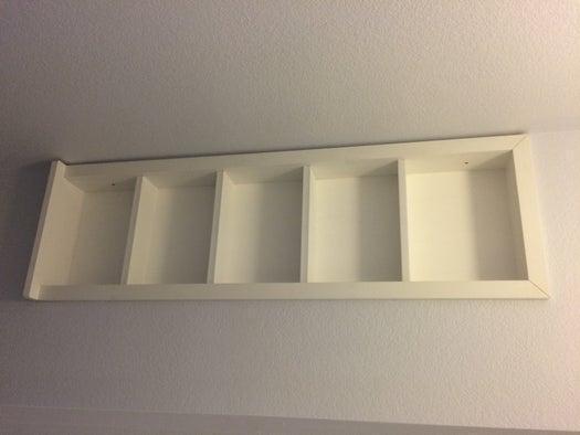 6. Simple DIY Built In Shelves