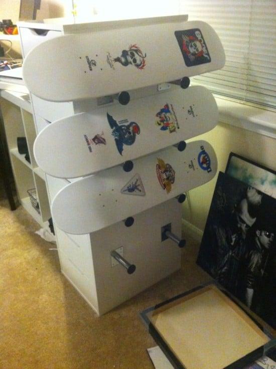 6. Skateboard Deck Display