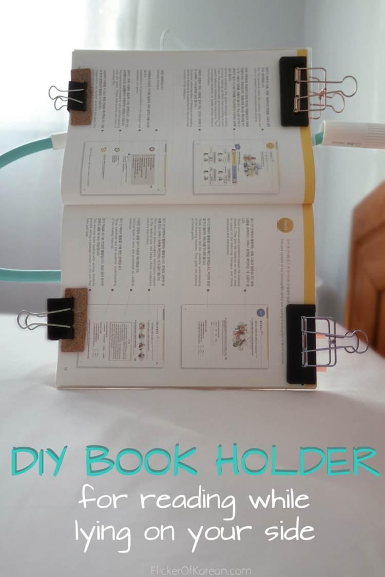 7. Bedside Book Holder