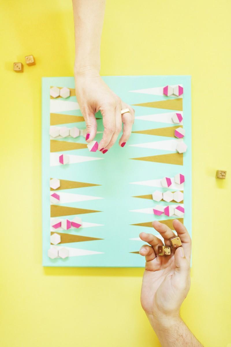 7. DIY Backgammon Board Games