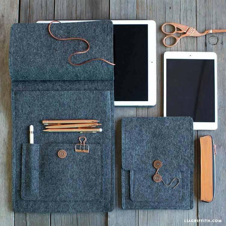 7. DIY Felt Tablet Cover