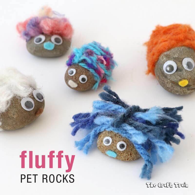 7. DIY Fluffy Pet Rocks