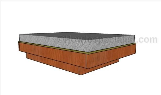 7. DIY Full Size Floating Bed Plans