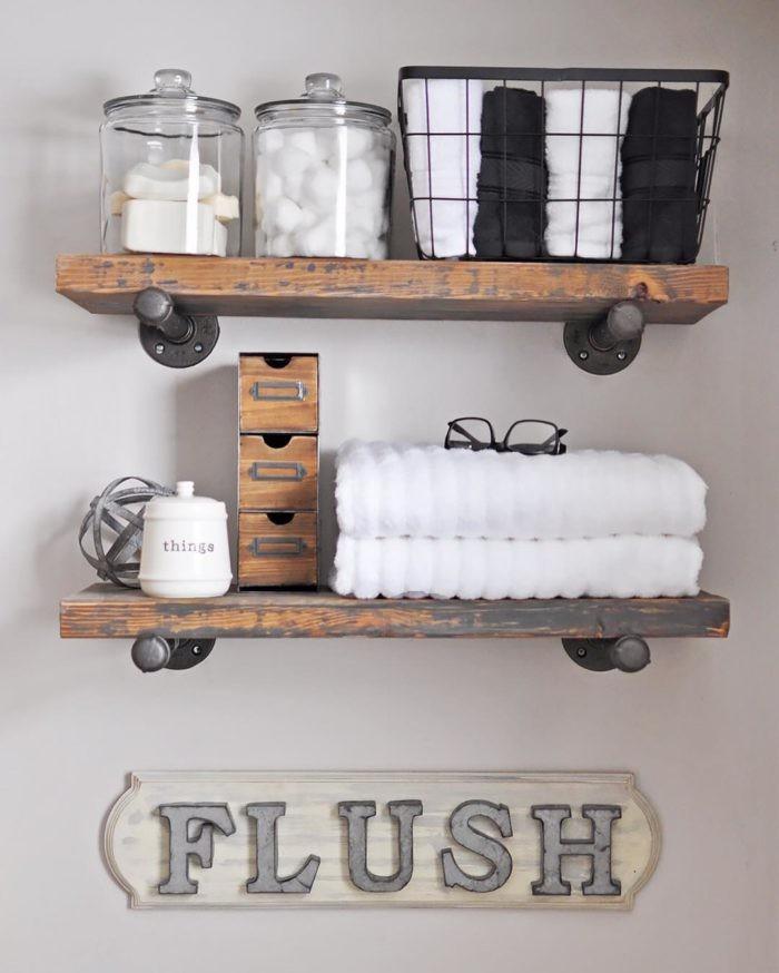 7. DIY Industrial Pipe Shelves