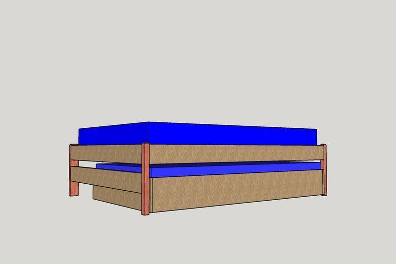 7. DIY Loft Bed With Trundle
