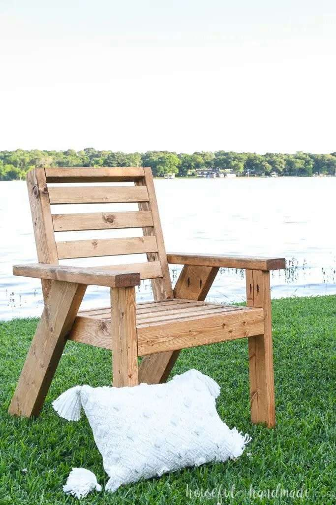 7. DIY Outdoor Lounge Chair Build Plans
