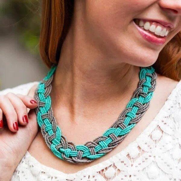 7. DIY Woven Necklace
