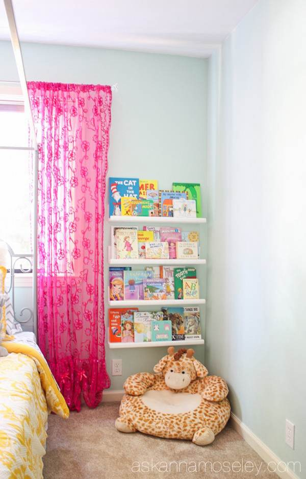 7. Floating Bookshelf on Wall