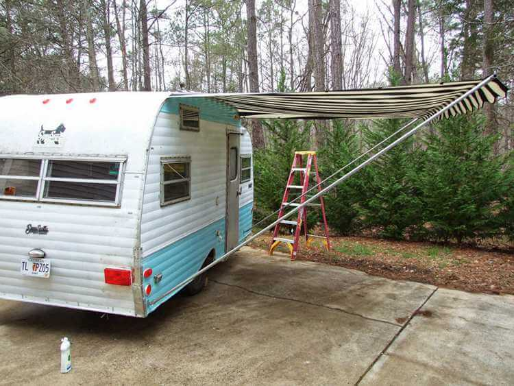 7. Sewing and setting up an awning