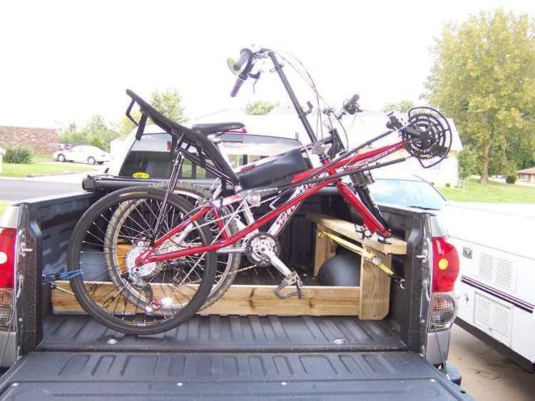 7. Side-mounted bike rack