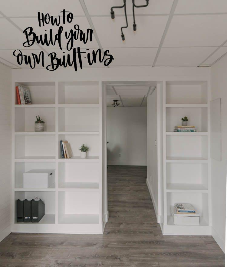 8. DIY Built In Shelving
