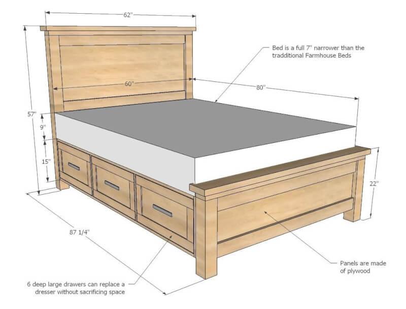 8. DIY Farmhouse Storage Bed