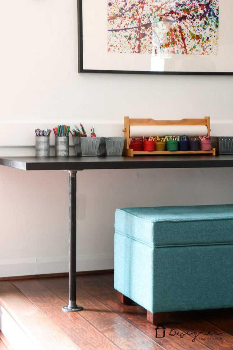 8. DIY Pipe Desk