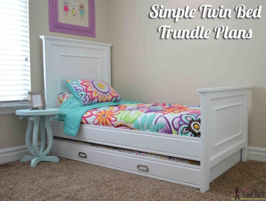 8. DIY Simple Twin Trundle Bed