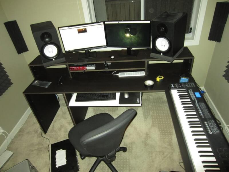 8. DIY Studio Desk Plans