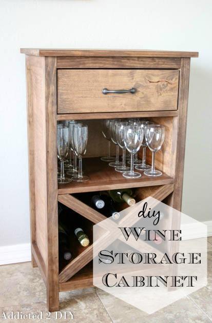 8. DIY Wine Storage Cabinet