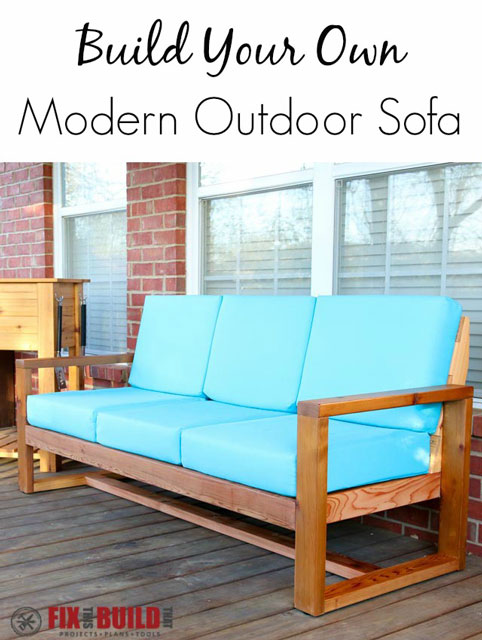8. How To Build A Modern Outdoor Sofa