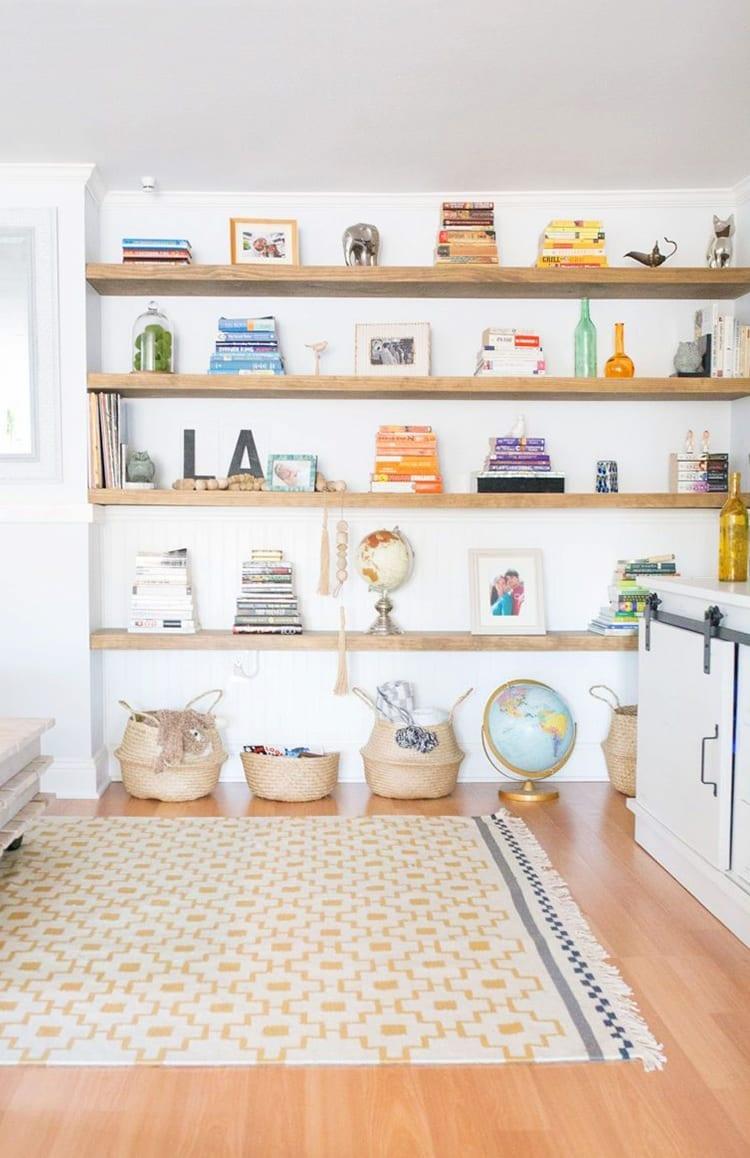 8. Wooden Bookshelf Platform