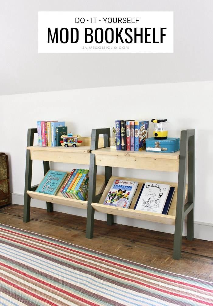 9. Classic Bookshelf Upgrade