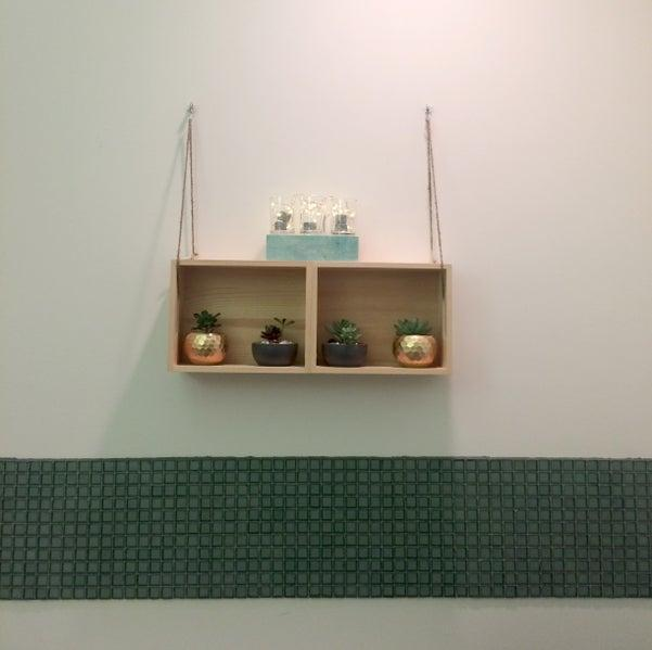 9. DIY Easy Hanging Shelf