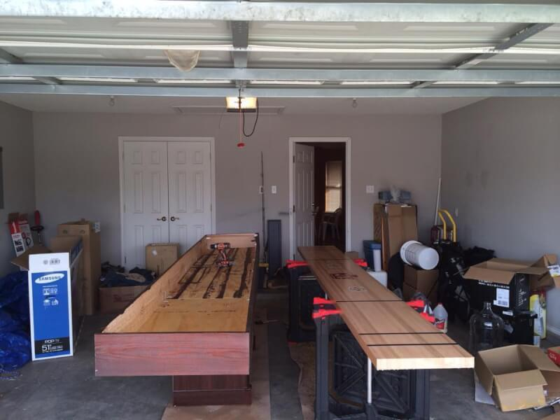 9. DIY Shuffleboard Table