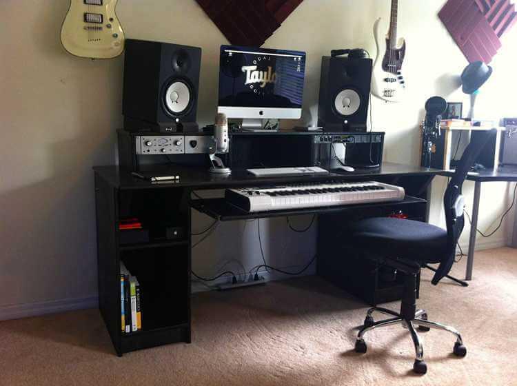 9. Homemade Studio Desk DIY
