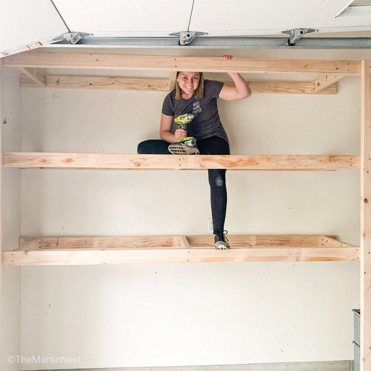 9. How To Build Easy DIY Storage Shelves