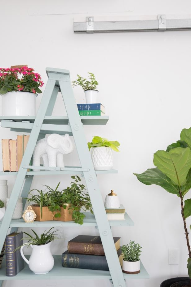 9. How To Create A DIY Ladder Shelf