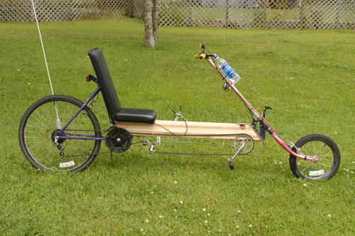 9. Low drivetrain wooden bike