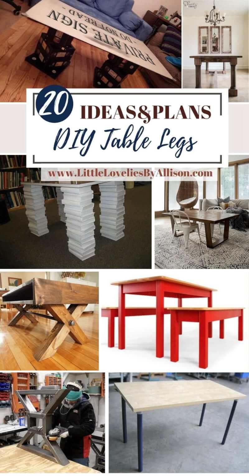Best DIY Table Legs Plans