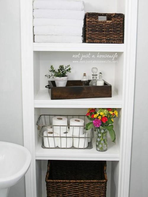 DIY Bathroom Shelves