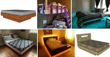 DIY Floating Bed Frame