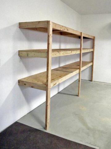 DIY Garage Shelf Plans