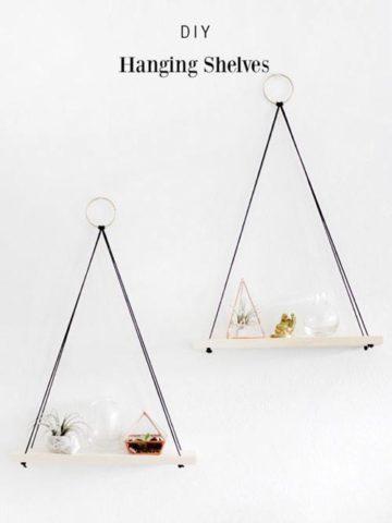 DIY Hanging Shelves Ideas