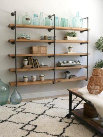 DIY Pipe Shelves Ideas