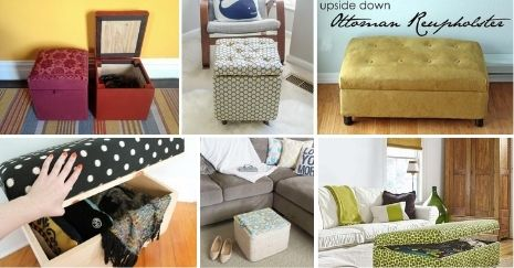 DIY Storage Ottoman Ideas