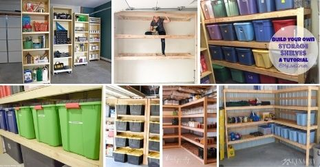 DIY Storage Shelves Plans