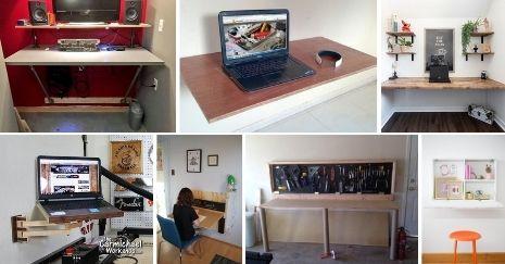 DIY Wall Mounted Desk Plans
