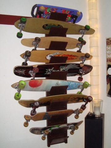 Homemade DIY Skateboard Rack Hacks