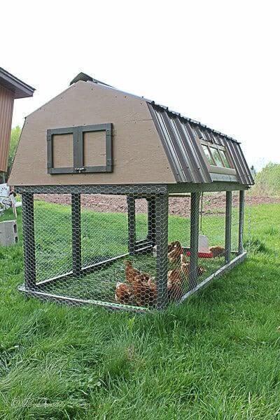 1. DIY Chicken Tractor