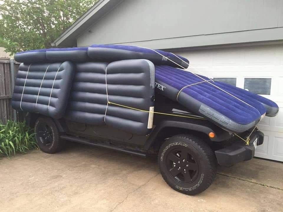 1. Hail Car Cover Idea