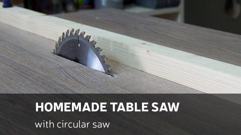 1. Homemade Table Saw DIY