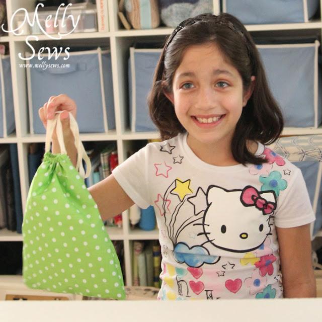 10. DIY Drawstring Bag Tutorial For Beginners
