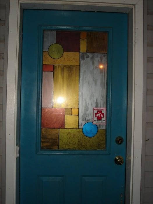 10. Faux Stained Glass Window DIY