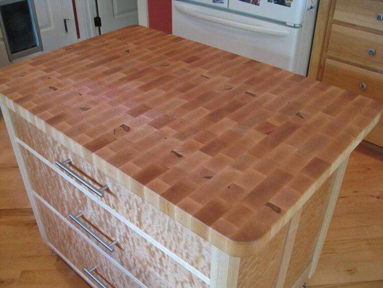 11. Butcher Block Countertop Build