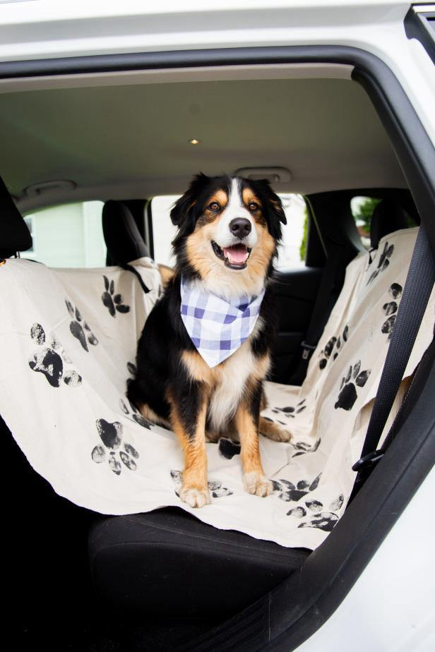 11. DIY Dog Car Seat Cover