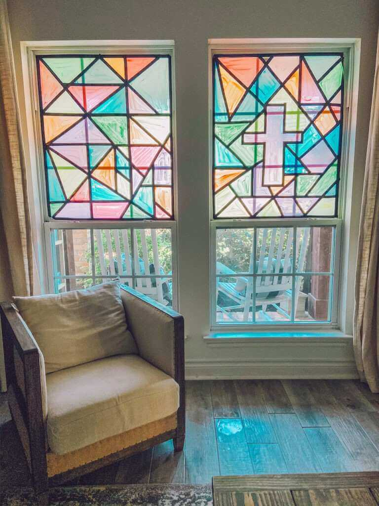 11. DIY Faux Stained Glass Window Tutorial