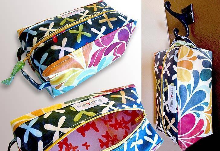 11. DIY Laminated Toiletry Bag