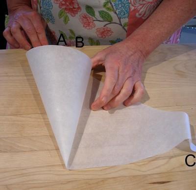 11. DIY Parchment Paper Cone