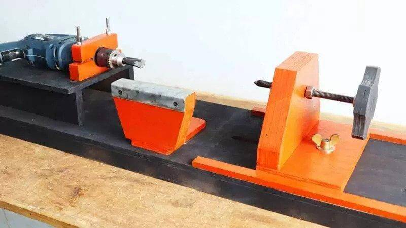 11. DIY Wood Lathe Making